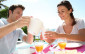 19269941 - couple enjoying breakfast in resort