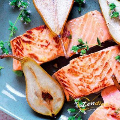 salmone con pere